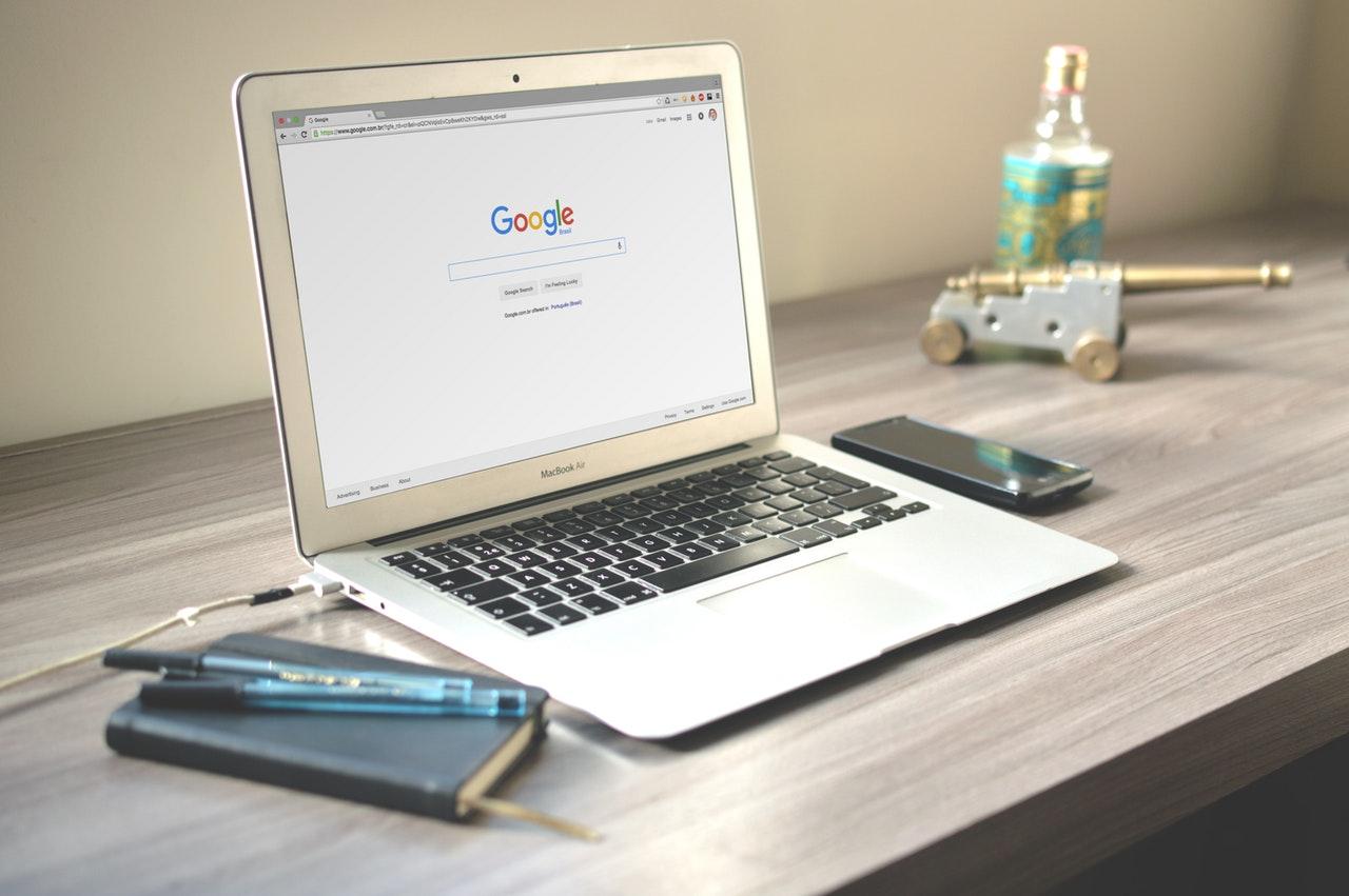 Laptop Google Search